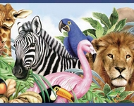 Jungle Animals Wallpaper Border