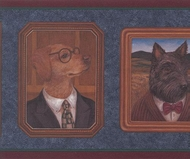 Dogs Dressed Up Wallpaper Border NT101253