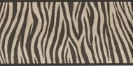 Black and Brown Zebra Stripes Wallpaper Border