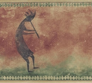 Kokopelli Wallpaper Border