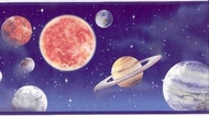 Planets In Space Wallpaper Border