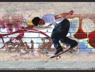 Skateboard Graffiti Wallpaper Border