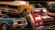 Muscle Cars Wallpaper Border