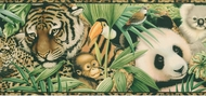 Jungle Safari Vintage Wallpaper Border