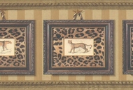 Framed Leopard Prints Wallpaper Border