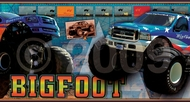 """BigFoot"" Monster Truck Wallpaper Border"