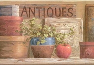 Antique Country Shelf Wallpaper Border
