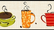 Coffee Wallpaper Border KB8500b