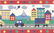 Kids Town Wallpaper Border