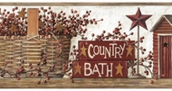 Country Bath Wallpaper Border