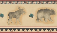 Bear, Moose, Wolf Wallpaper Border