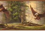 Eagles In Flight Wallpaper Border LL50082b