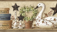 Swan & Ivy Collage Wallpaper Border PUR44631b