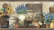 Antiques & Herbs Wallpaper Border PUR44581b