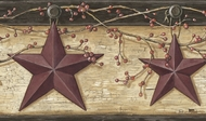 Rustic Barn Star Wallpaper Border PUR44603b
