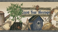 Count Your Blessings Wallpaper Border PUR44512b
