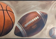 Sports Balls Wallpaper Border SK6310bd