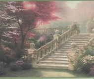 "Thomas Kinkade ""Stairway to Paradise"" Wallpaper Border 30882520"