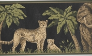 Jungle Animals Wallpaper Border HE3539b