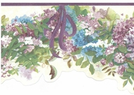 Hydrangea Garland Wallpaper Border  KBE12561b