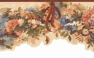 Hydrangea Garland Wallpaper Border KBE12562b
