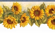 Sunflower Waltz Wallpaper Border KBE12511b