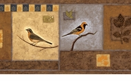 Bungalow Birds Wallpaper Border LL50102b