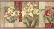 Contemporary Floral Blocks Wallpaper Border SB10305b