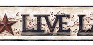 Live, Laugh, Love Word Block Wallpaper Border YC3343bd