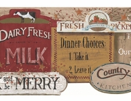 Country Kitchen Sign Wallpaper Border YC3400bd