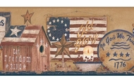 Patriotic Shelf Wallpaper Border YC3325bd