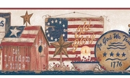 Patriotic Shelf Wallpaper Border YC3326bd