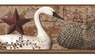 Swan On Brick Wallpaper Border YC3304bd