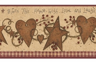 Love & Laughter Tin Star Wallpaper Border YC3332bd