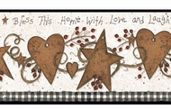 Love & Laughter Tin Star Wallpaper Border YC3333bd