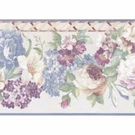 Satin Floral Wallpaper Border 51306140