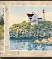 Lighthouses Wallpaper Border AG042231b