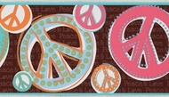 Peace & Love Sign Wallpaper Border