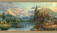 Thomas Kinkade Cabins in Park Wallpaper Border TK074164b