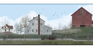 Rural Route Barn Wallpaper Border BG1628bd