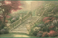 "Thomas Kinkade ""Stairway to Paradise"" Wallpaper Border 30882550"