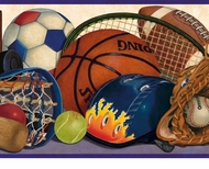 Sports Equipment Wallpaper Border GU92212B