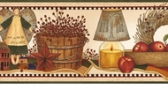 Punched Tin Still Life Wallpaper Border AAI08092B