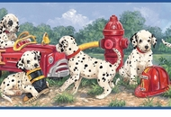 Dalmation Five Alarm Fire Wallpaper Border GU92361B