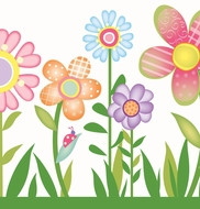 Fun Garden Wallpaper Border