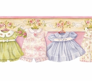 Darling Dresses Wallpaper Border