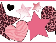 Diva Hearts & Stars Wallpaper Border