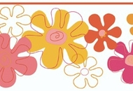 Flower Power Wallpaper Border