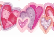 All Hearts Wallpaper Border GIR83191b