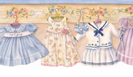 Darling Dresses Wallpaper Border GU92111b
